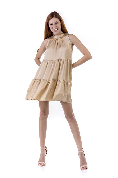 Μίνι φόρεμα τύπου σατέν