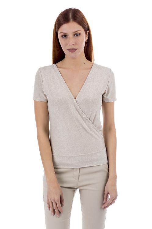 Lurex κρουαζέ μπλούζα