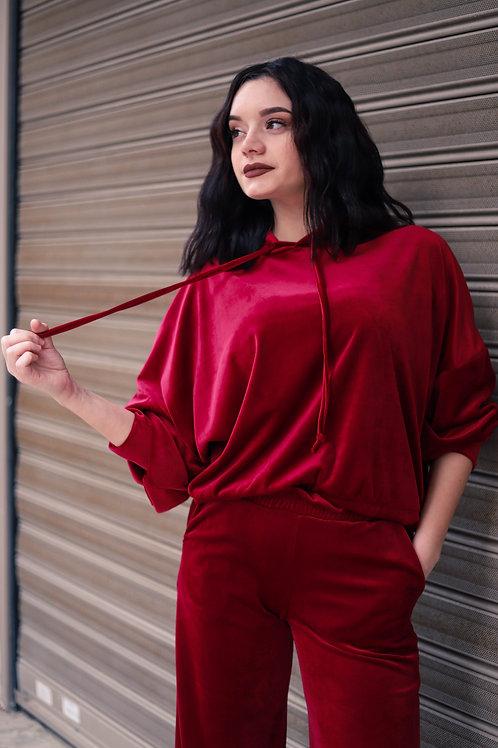 Velvet μπλούζα με κουκούλα