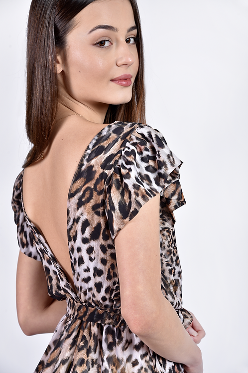 Mini leopar φόρεμα