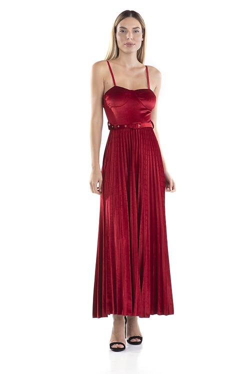 Μάξι βελούδινο φόρεμα
