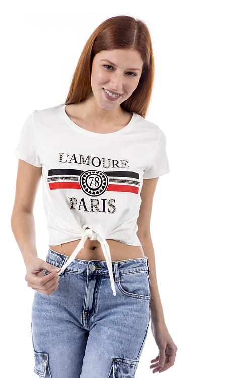 """Crop top """"L'amour"""""""