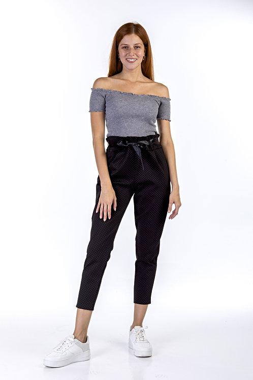 Υφασμάτινο ψηλόμεσο παντελόνι