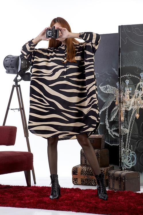 Φόρεμα - πουκάμισο animal print