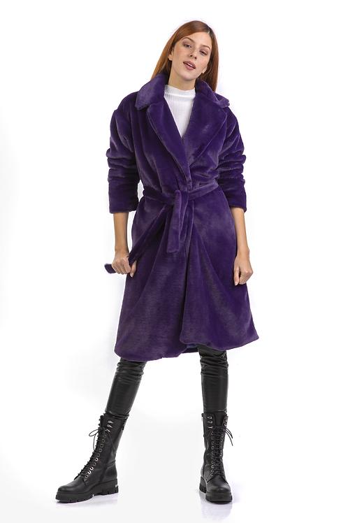 Μίντι γούνινο παλτό