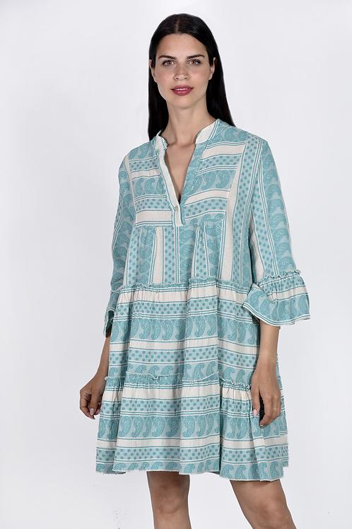 Mini φόρεμα με boho σχέδια