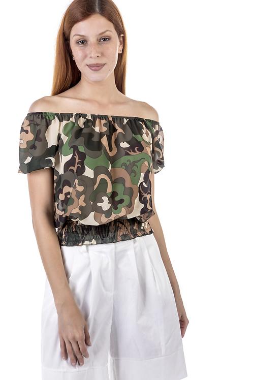 Μπλουζάκι παραλλαγής με ακάλυπτους ώμους