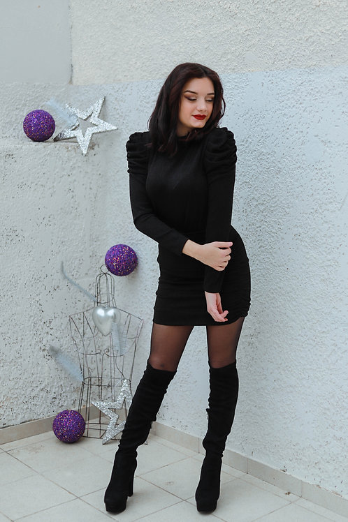 Lurex φόρεμα με σούρες