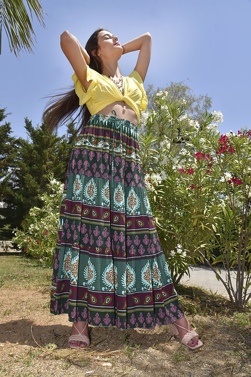 Maxi boho skirt