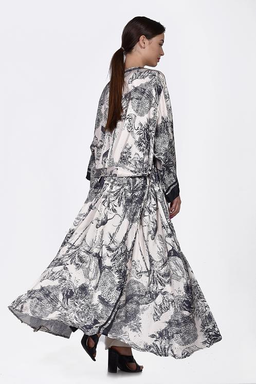 Ασπρόμαυρο Kimono