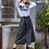 Thumbnail: Μίντι δερμάτινη φούστα με κουμπιά