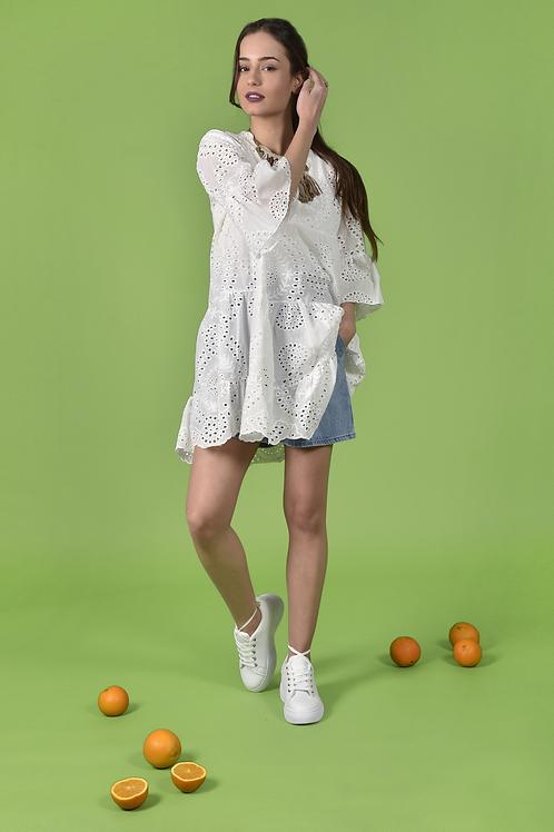 Floral μπλούζα / φόρεμα