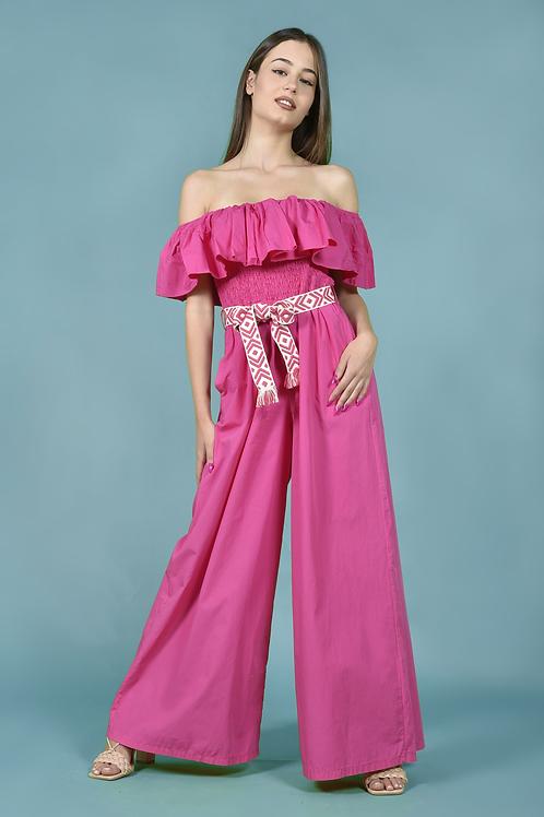 Strapless ολόσωμη φόρμα με tribal ζώνη