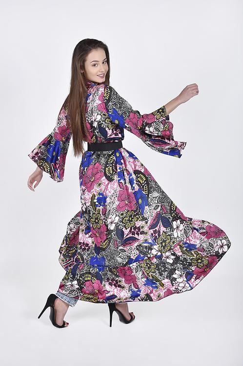 Floral kimono  με φραμπαλά