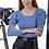 Thumbnail: Ριπ μπλούζα με φουσκωτούς ώμους
