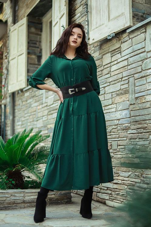 Μακρύ σεμιζιέ φόρεμα