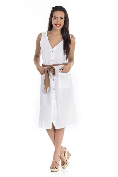 Φόρεμα Midi με κουμπιά
