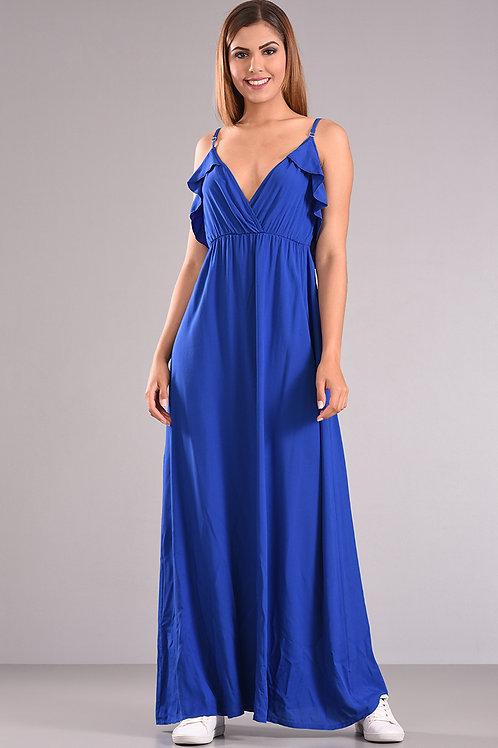 Φόρεμα με φραμπαλά στην πλάτη