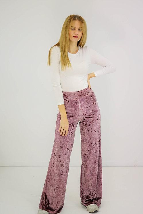 Dusty velvet παντελόνι
