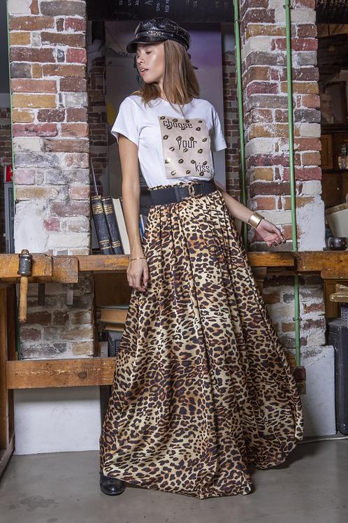 Μάξι animal print φούστα