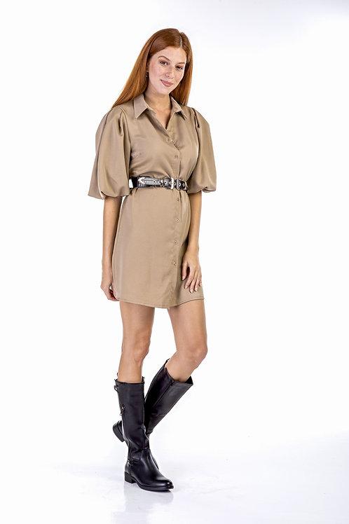 Μίνι φόρεμα με φουσκωτούς ώμους