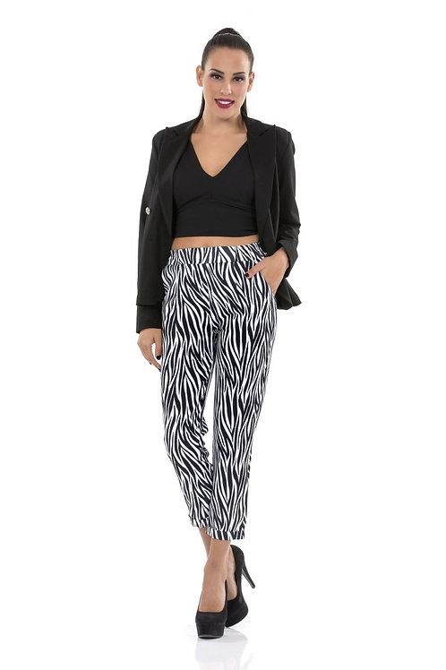 Παντελόνι με ρεβερ animal print
