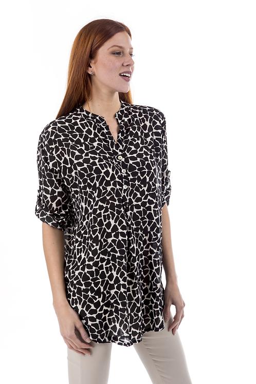 Animal print πουκάμισο