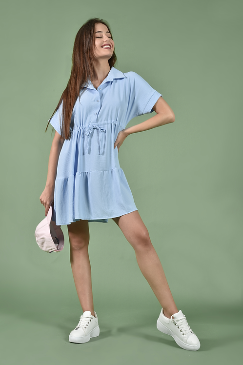 Casual φόρεμα με γιακά