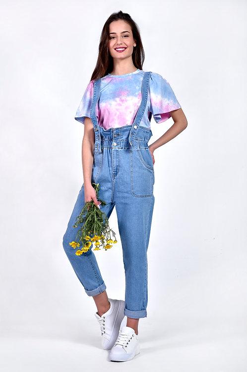 High waist jean σαλοπέτα
