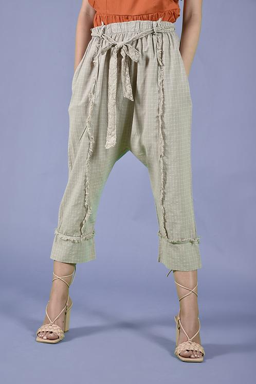 Harem capri καρό παντελόνι