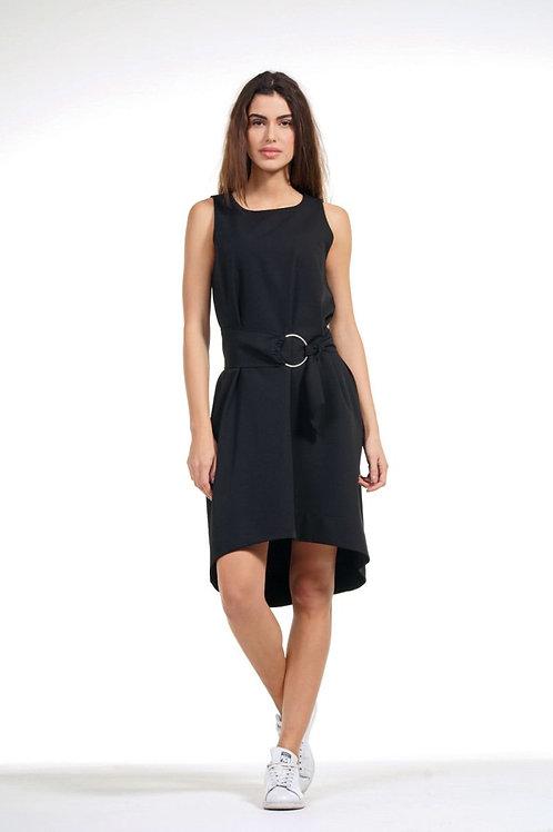 Φόρεμα αμάνικο με ζώνη