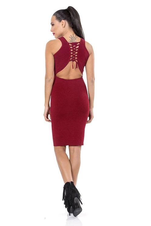 Φόρεμα ριπ με ανοιχτή πλάτη