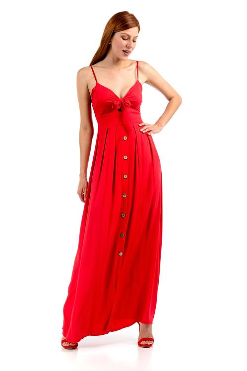 Maxi φόρεμα με δέσιμο μπροστά