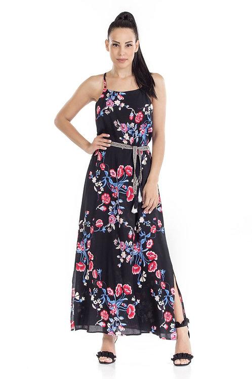 Φόρεμα Maxi floral με ζώνη