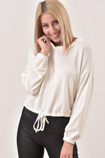 Milky μπλούζα με κουκούλα