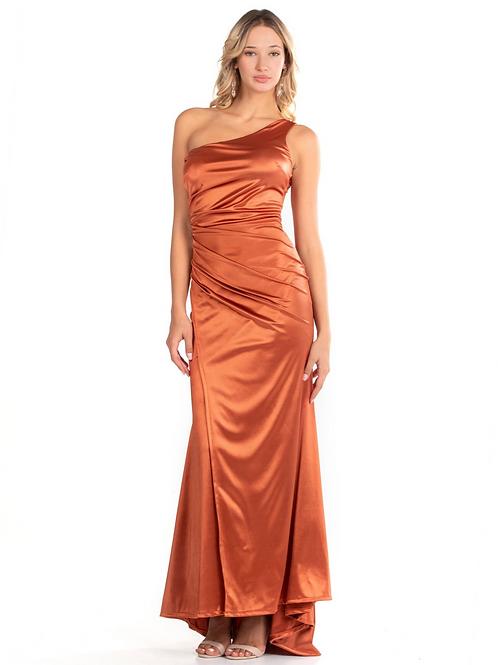 Μάξι φόρεμα με τον ένα ώμο έξω