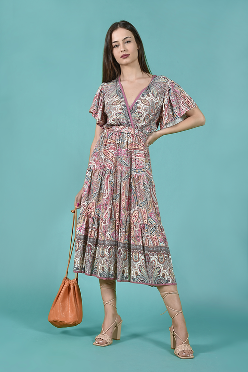 Midi boho dress