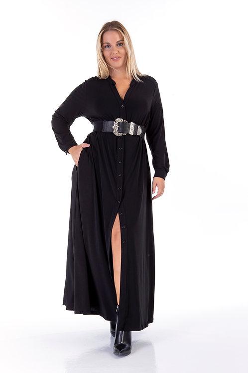 Σεμιζιέ φόρεμα με τσέπες