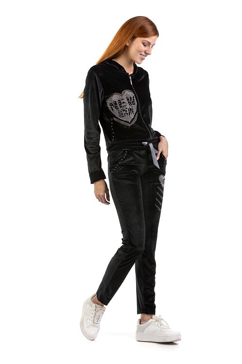 Velvet παντελόνι με σχέδιο καρδιά