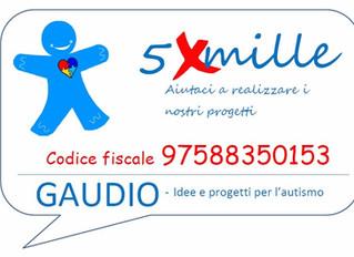Con il tuo 5 x 1000 a Gaudio  puoi fare molto per i bambini affetti da autismo