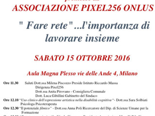 """L'associazione PIXEL256 onlus organizza a Milano il convegno  """"Fare rete"""" ... l'im"""