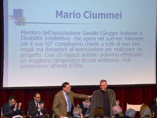 Premio alla Virtù Civica «Panettone d'oro» al papà genoroso ideatore della VACANZA GAUDIOSA.