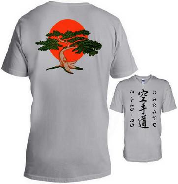 MIYAGI Donna T Shirt COBRA Kai Karate Arti Marziali Albero Bonsai anni/'80 Film