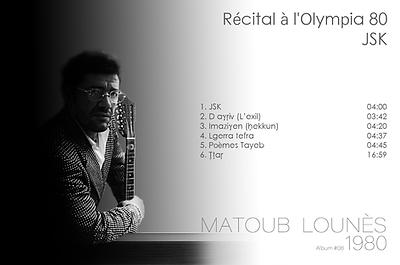 matoub lounès 1980 - Récital à l'Olympia 80