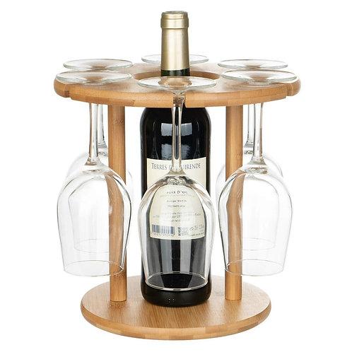 Wine Bottle And Glassware Centerpiece Display