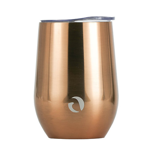 DRINCO® 12oz Insulated Wine Tumbler Glass (Sunset Copper)