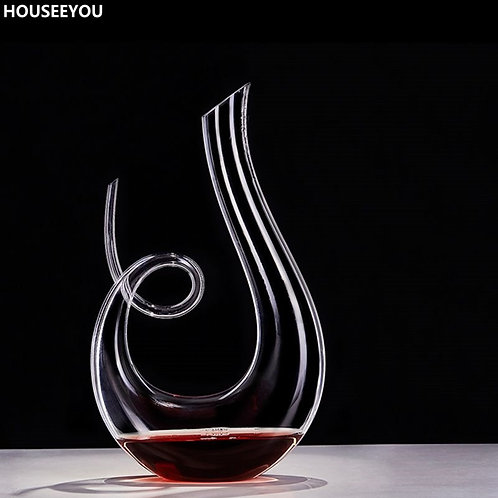 Curly Tail  -  crystal wine decanter