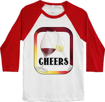 Wine Cheers - Baseball Shirt