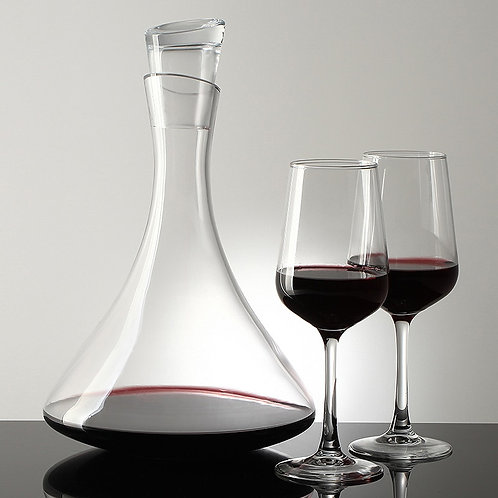 Classic Wide Base Crystal Decanter with glass lid