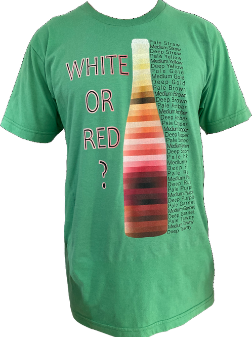 White or Red ?  wine colors tee shirt